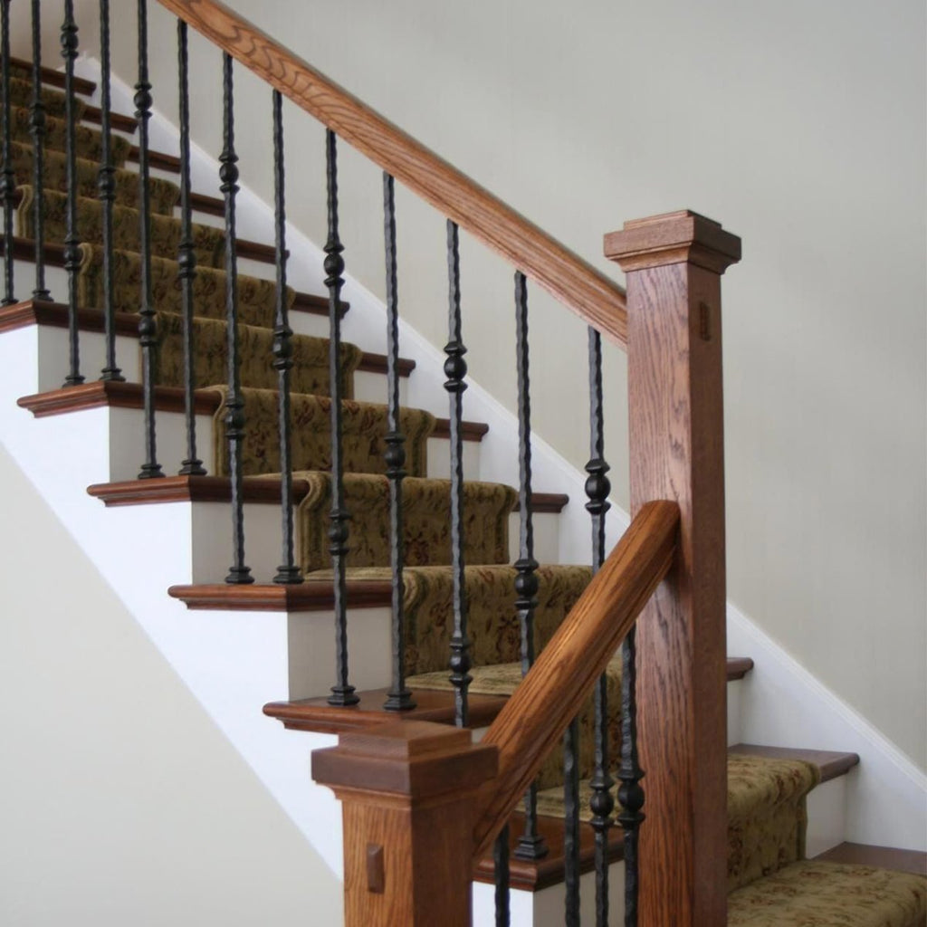 Tuscan Hammered Stair Iron Balusters