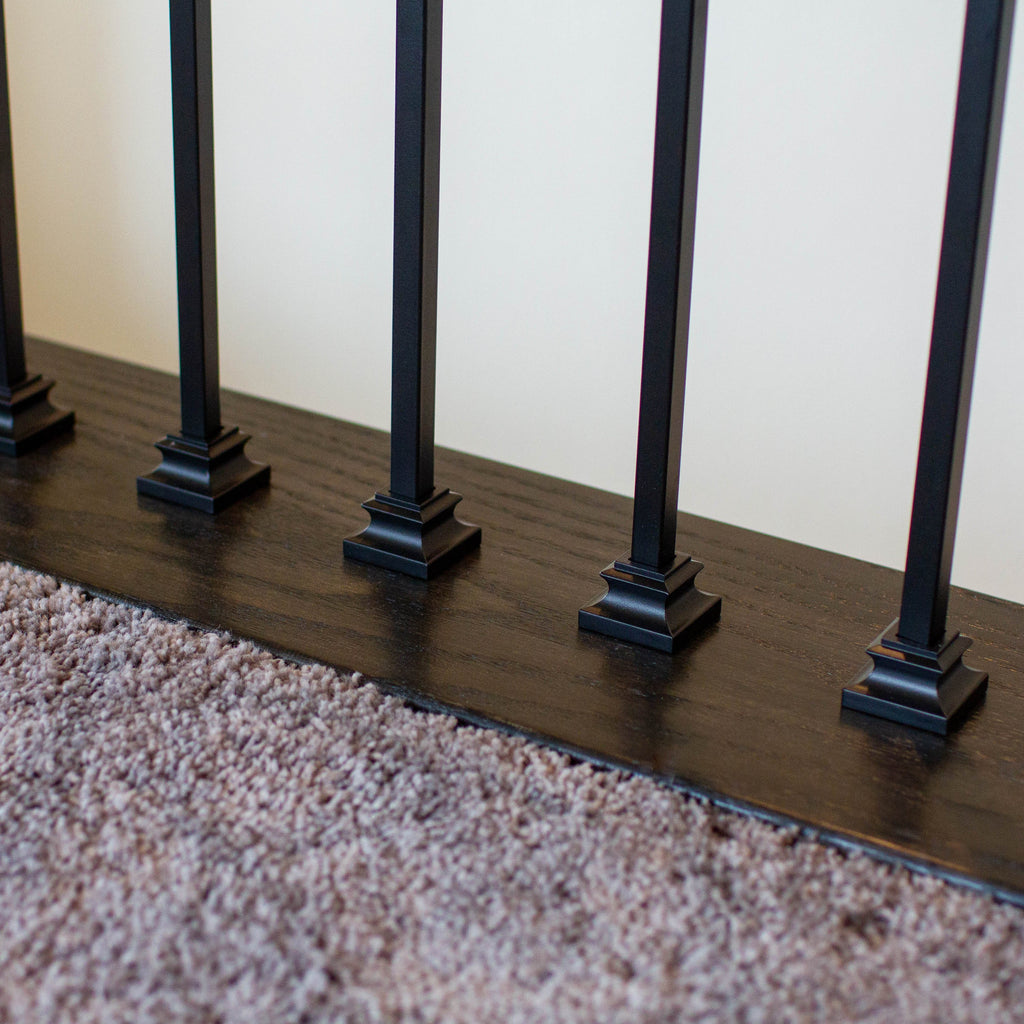Railing Iron Baluster Shoe for Stair Remodel