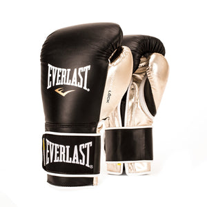 Everlast Powerlock Hook & Loop Training Gloves (Velcro) - Black/Gold