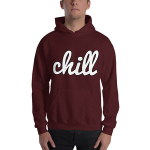 chillinoisUSA - chillinoisUSA  - mens clothing White Logo Two Hoodie - streetwear