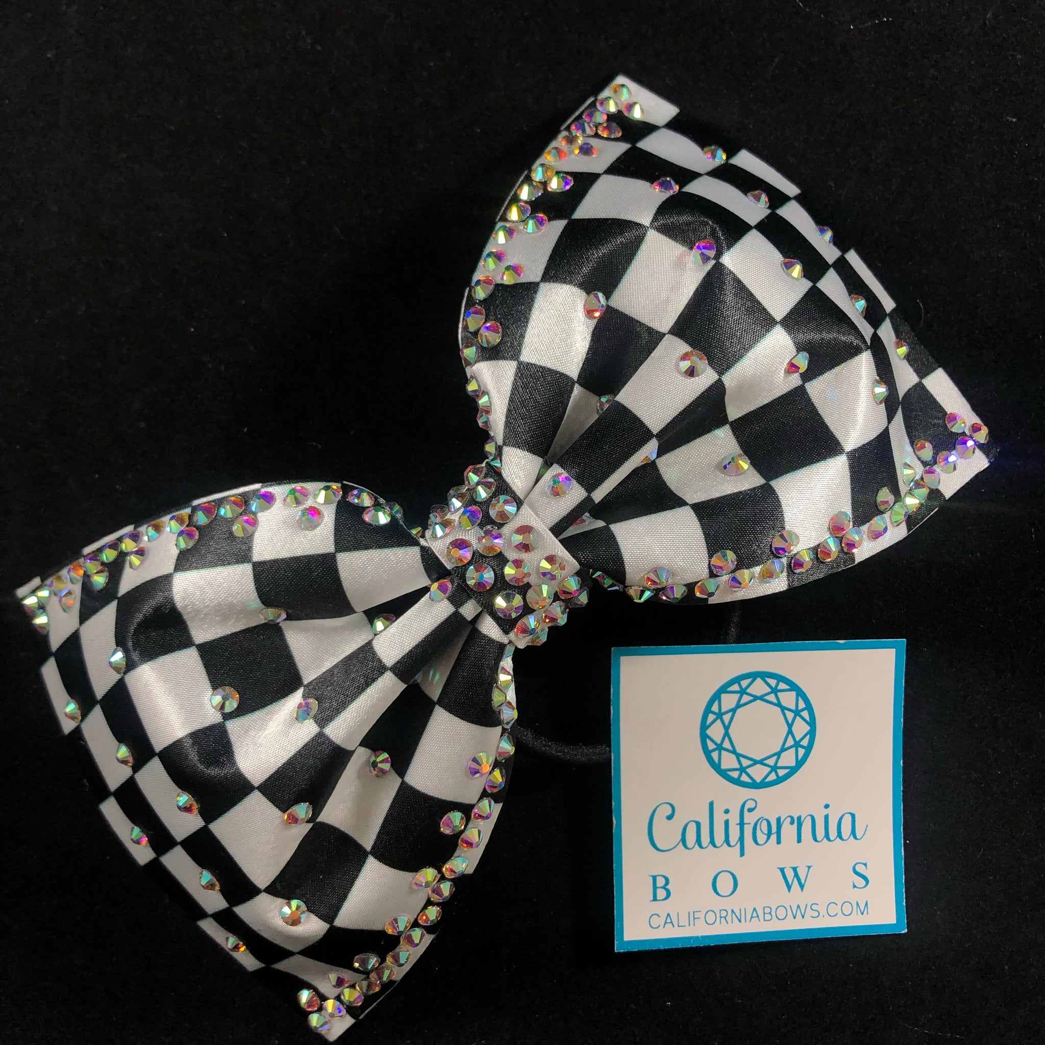 The Liberty Bow- black white checkered