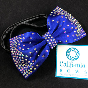 The Carrie Bow Headband- cobalt blue