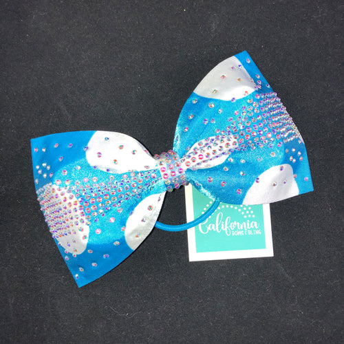 The Olivia Bow- Turquoise Dot