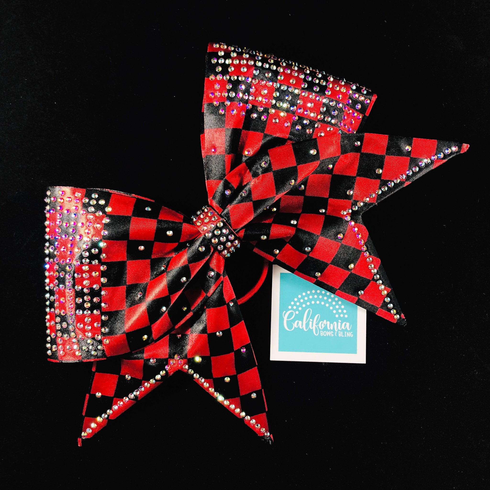 The Samantha Bow- black & red check