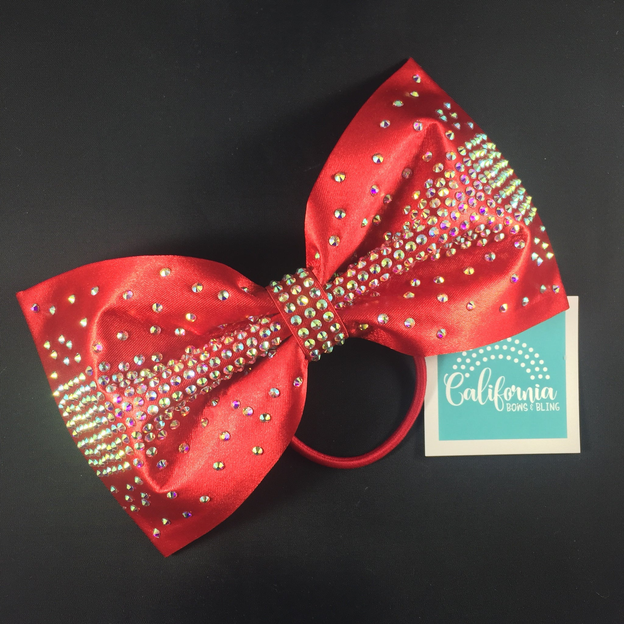 The Olivia Bow-red