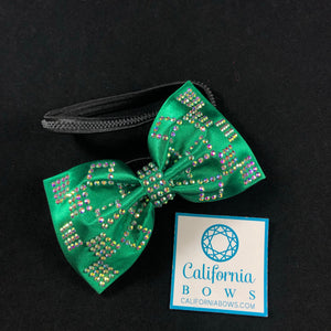 The Haven Bow Headband- emerald green