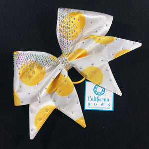 The Audrey Bow- yellow dot