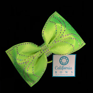 The Jessica Bow- neon lime green