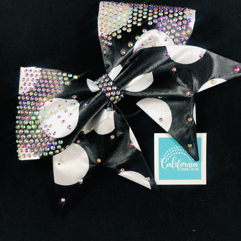 The Alice Bow- black and white dot