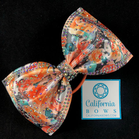 The Ivy Bow- orange floral