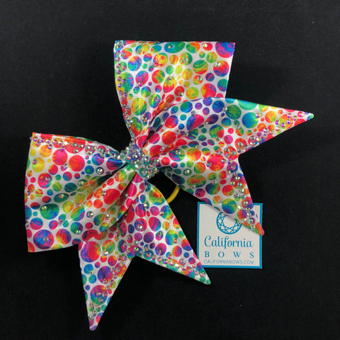 The Liberty Bow- rainbow dot