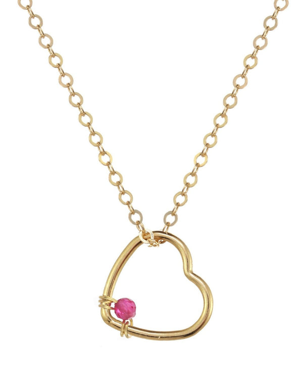 Amorcito Necklace KOZAKH Ruby 14K Gold Filled