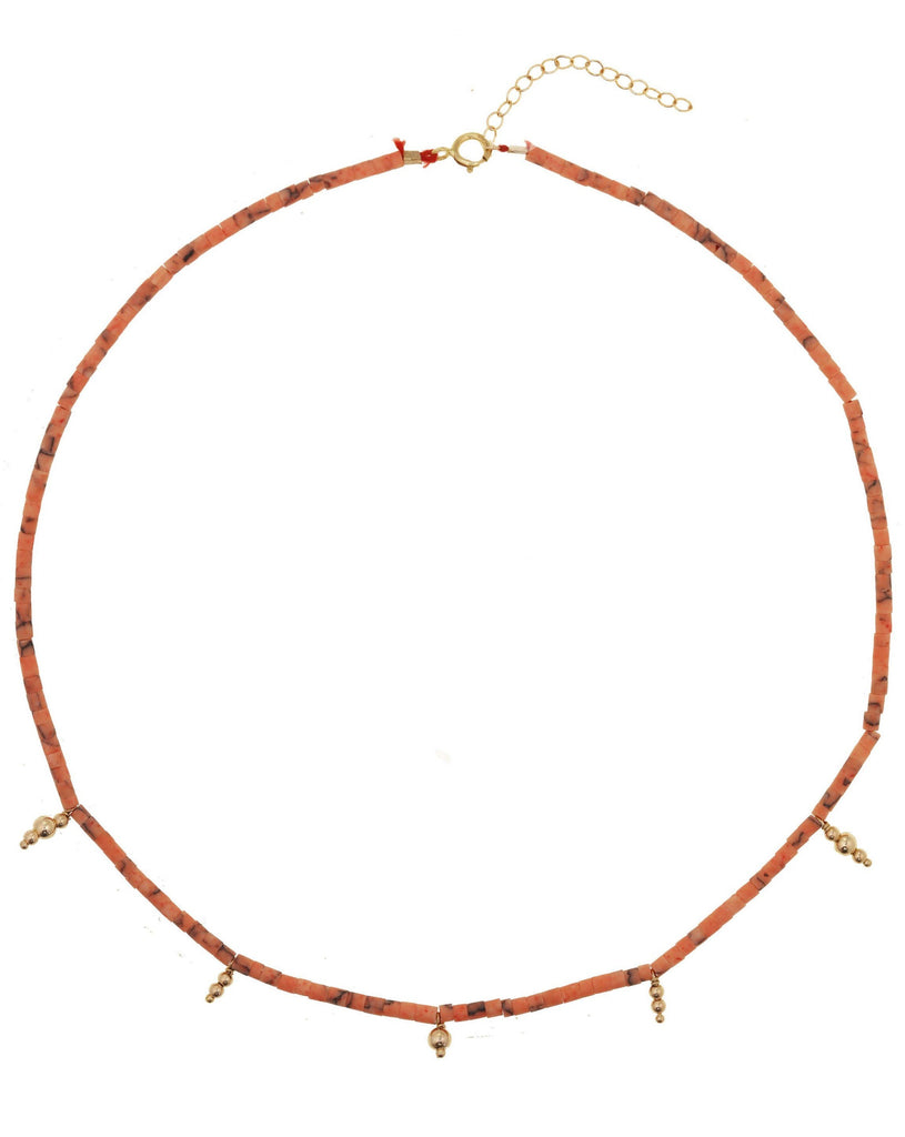 Ancienta Necklace KOZAKH Peach 14K Gold Filled