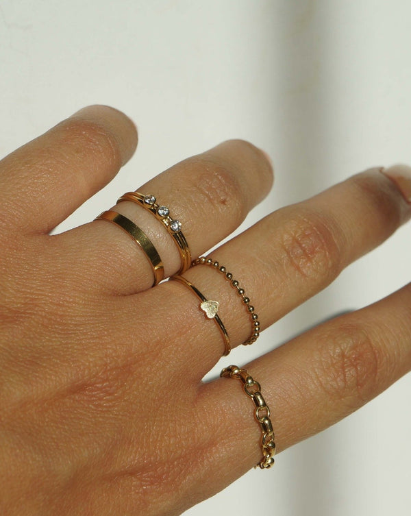 Beaded Soft Chain Ring