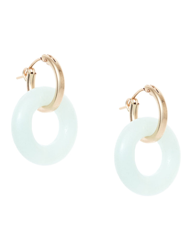 Cerceau Hoops KOZAKH Amazonite 14K Gold Filled