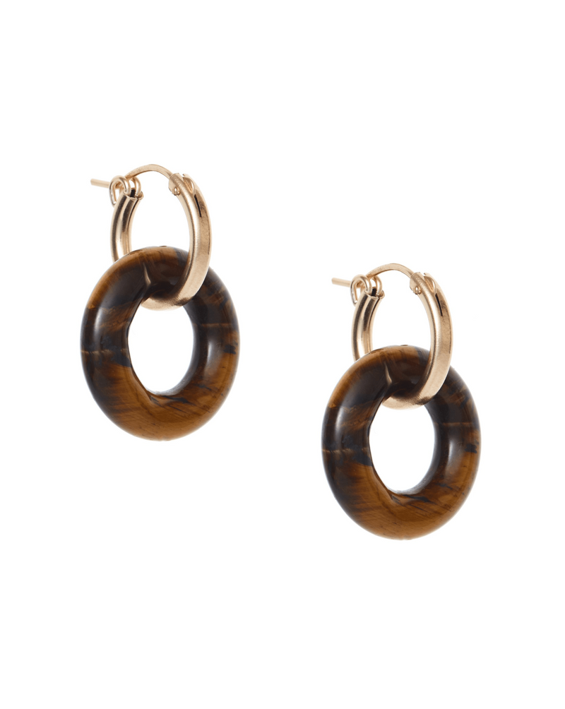 Cerceau Hoops KOZAKH Tiger's Eye 14K Gold Filled