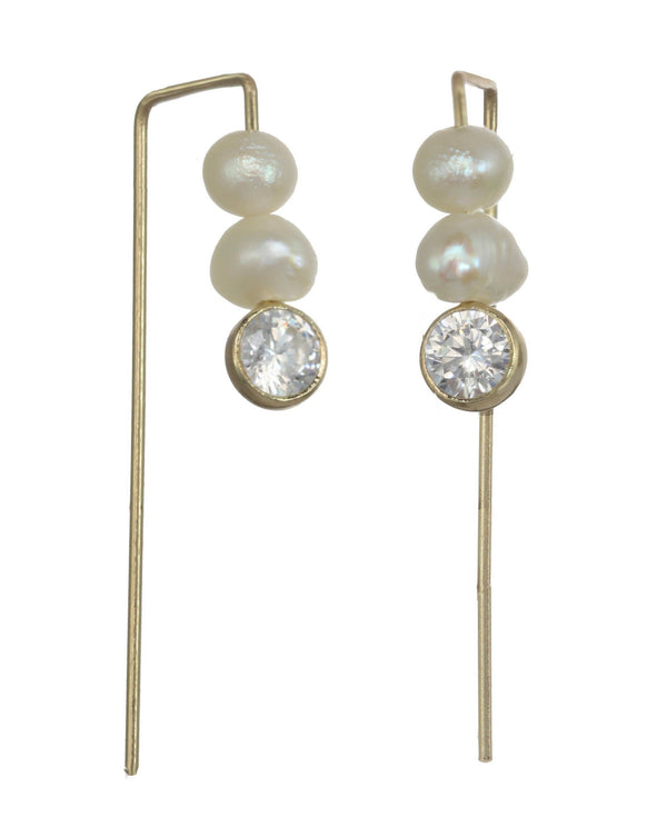 Clarita Pearl Earrings KOZAKH Jewelry