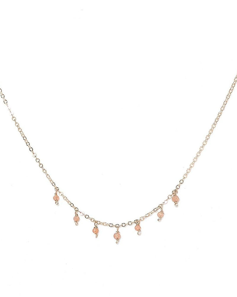 Cuy Necklace - Various Gems Options KOZAKH Peach Moonstone 14K Gold Filled