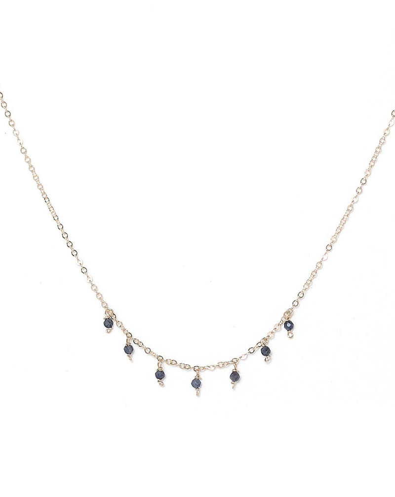 Cuy Necklace - Various Gems Options KOZAKH Sapphire 14K Gold Filled