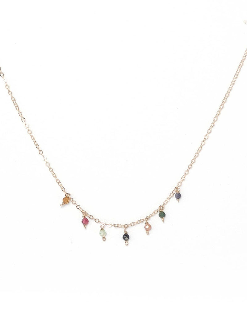Cuy Necklace - Various Gems Options KOZAKH Watermelon Tourmaline 14K Gold Filled
