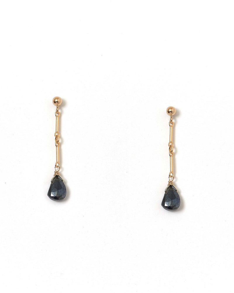 Desos Black Pyrite Earrings KOZAKH