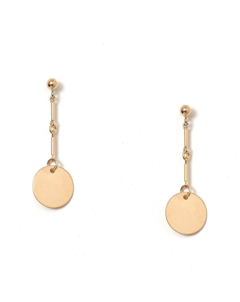 Desos Earrings KOZAKH Coin 14K Gold Filled