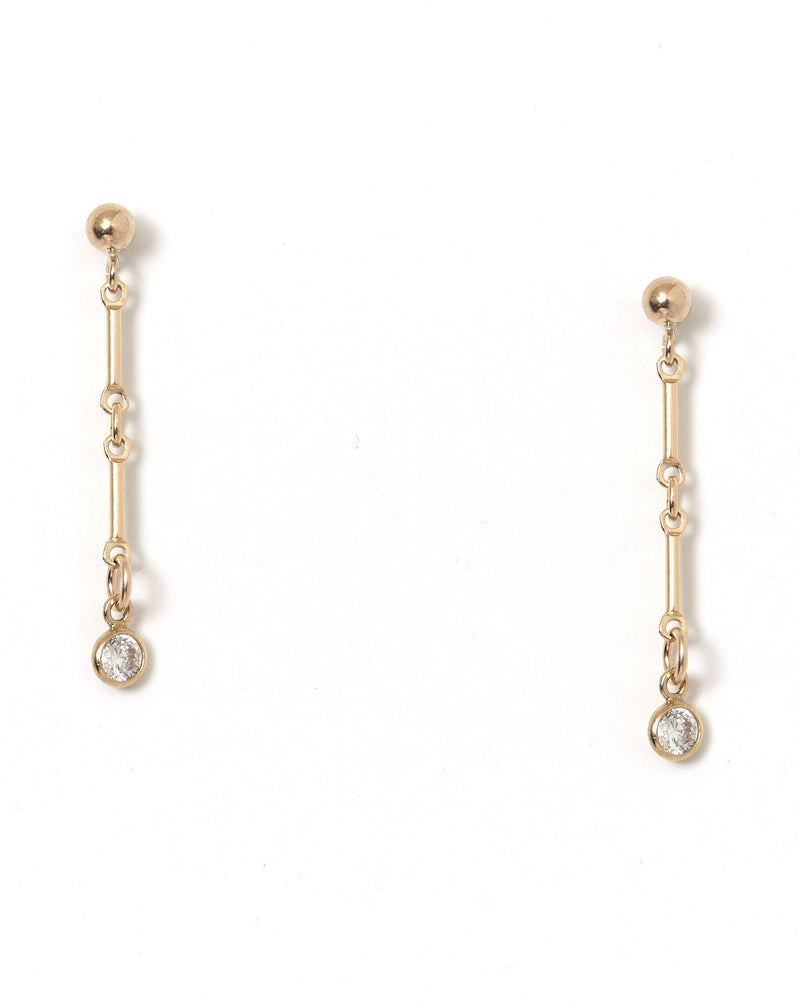 Desos Earrings KOZAKH Swarovski Crystal 14K Gold Filled
