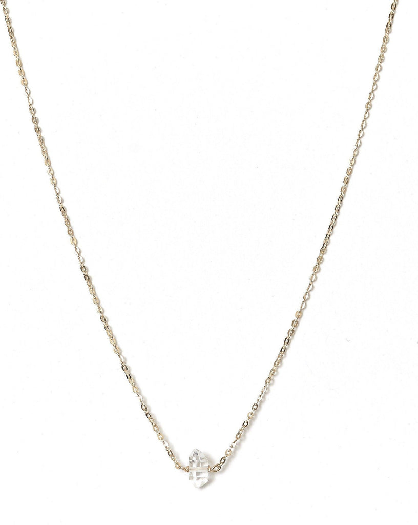 Dia Necklace KOZAKH Herkimer Diamond 14K Gold Filled