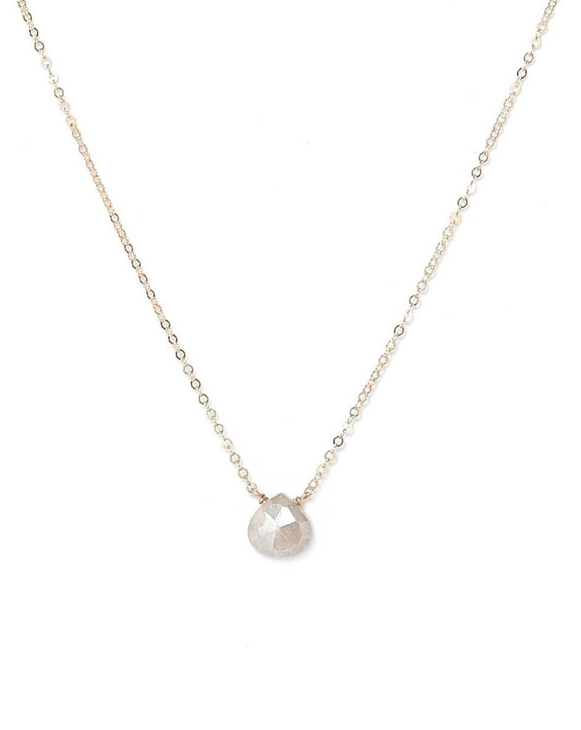 Dia Necklace KOZAKH White Sapphire 14K Gold Filled