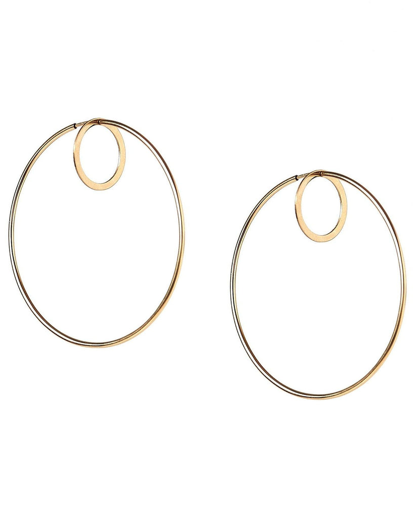 Double Front Hoop Earrings KOZAKH
