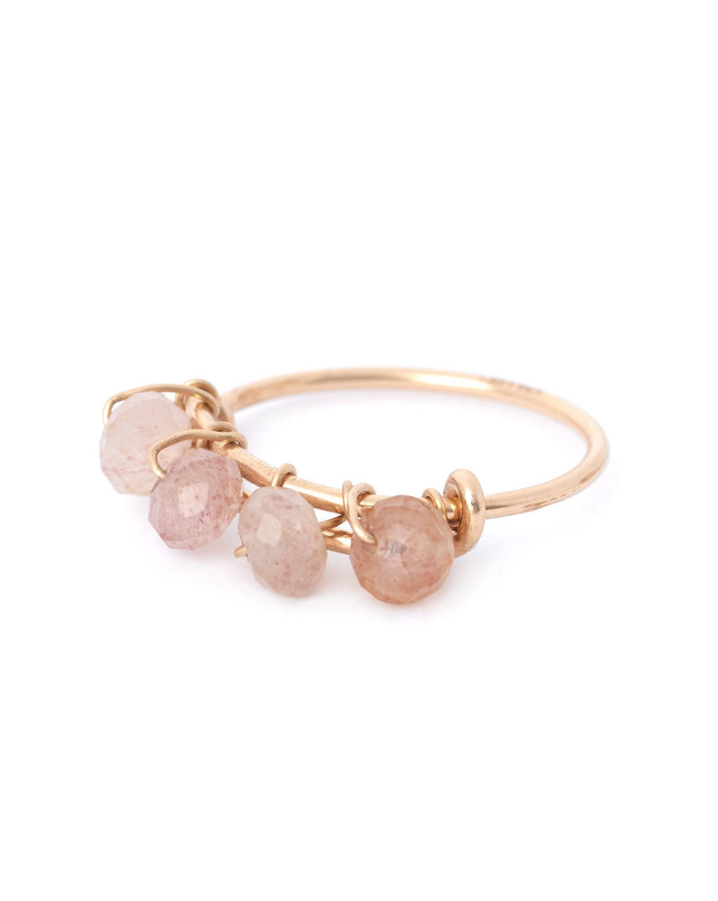 Gem Braided Ring KOZAKH Rose Quartz 14K Gold Filled 5