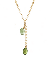 Liva Necklace KOZAKH Jewelry Green 14K Gold Filled