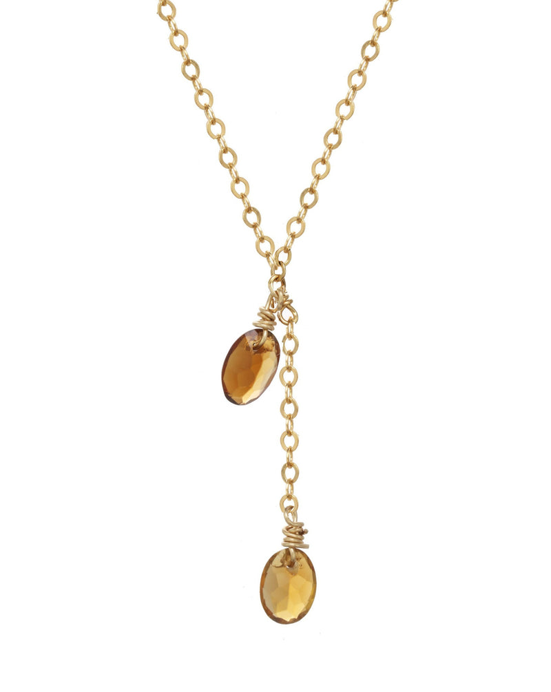 Liva Necklace KOZAKH Jewelry Oak 14K Gold Filled