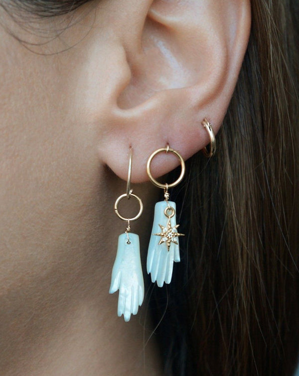 Manos Hoop Earrings KOZAKH