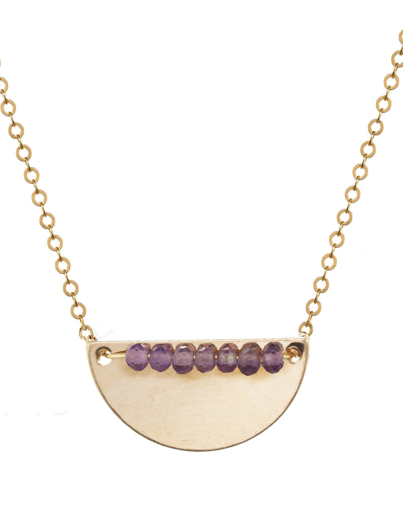 Medina Necklace KOZAKH Amethyst 14K Gold Filled
