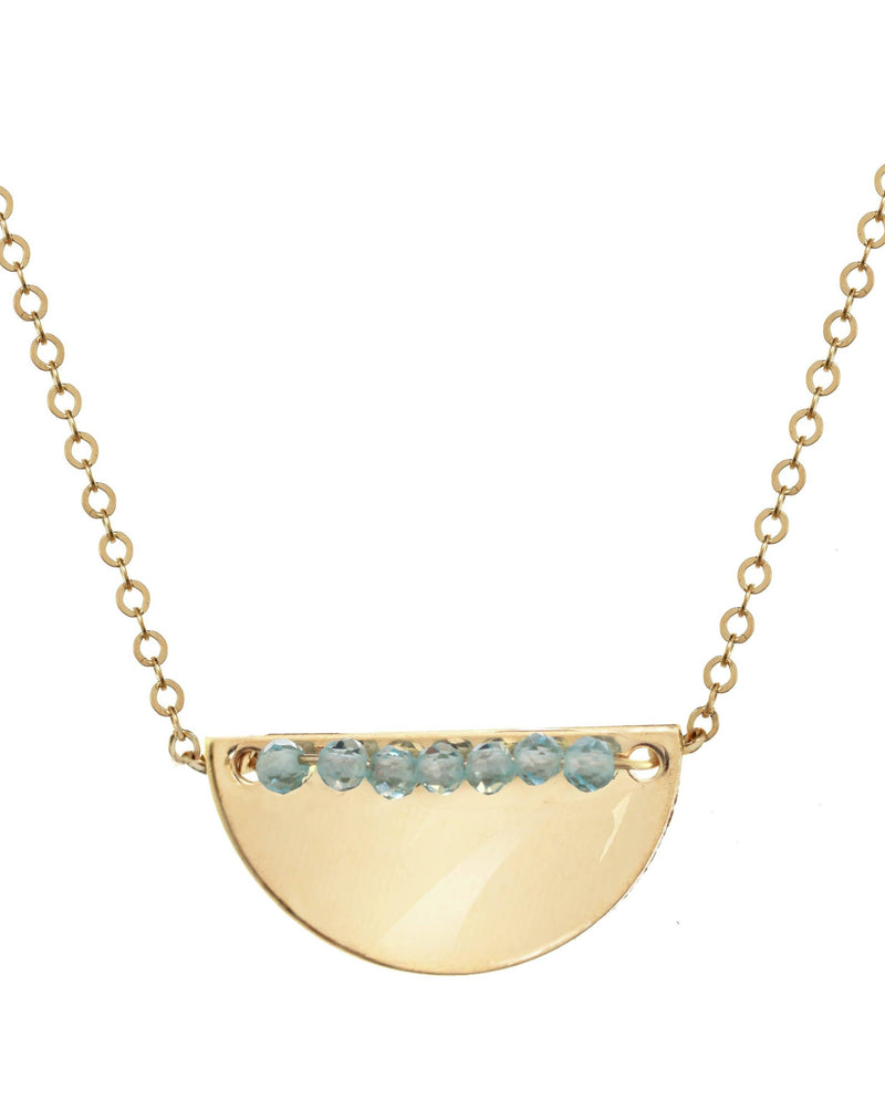 Medina Necklace KOZAKH Aquamarine 14K Gold Filled