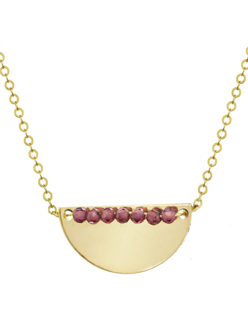 Medina Necklace KOZAKH Garnet 14K Gold Filled