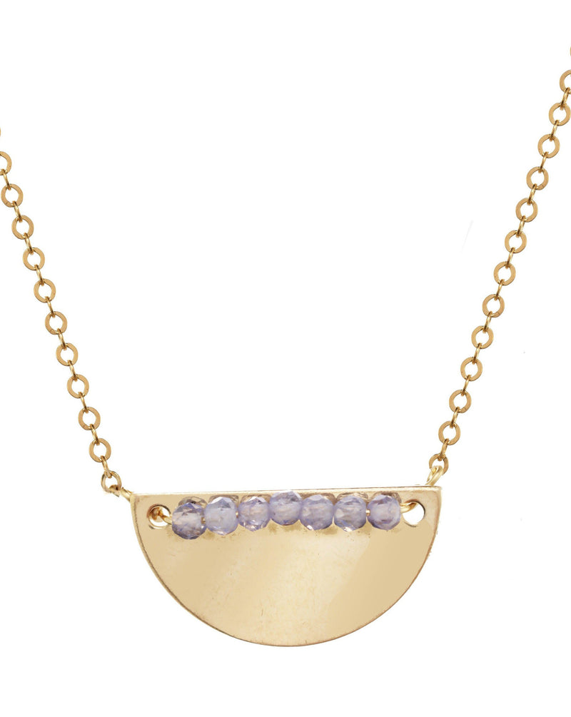Medina Necklace KOZAKH Tanzanite 14K Gold Filled