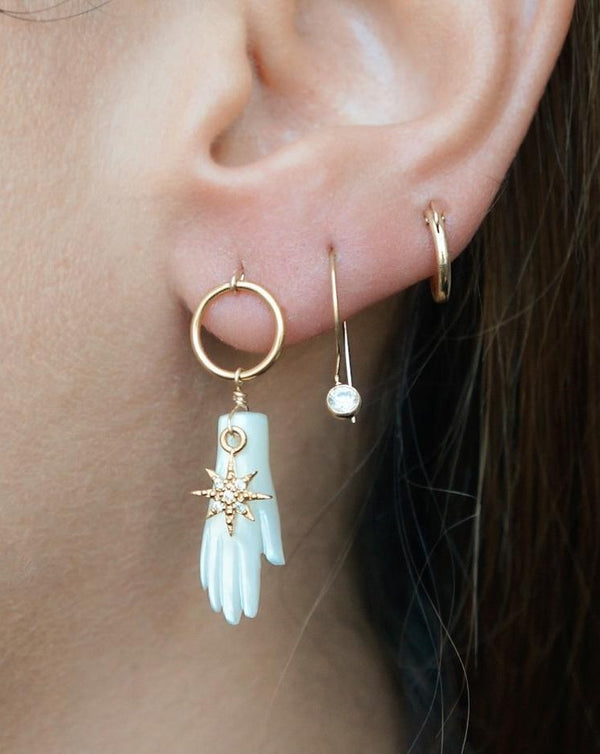 Melinda Hoop Huggie Earrings KOZAKH