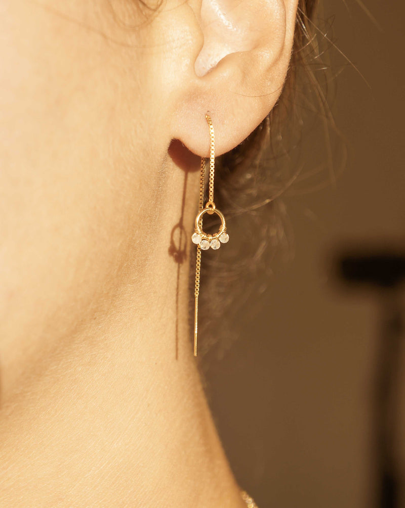 Onda Threader Earrings
