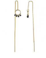 Onda Threader Earrings KOZAKH Sapphire 14K Gold Filled