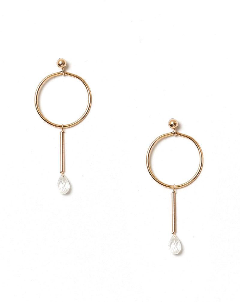 Osea Earrings KOZAKH Moonstone 14K Gold Filled