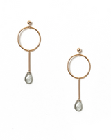 Osea Earrings KOZAKH Moss Aquamarine 14K Gold Filled