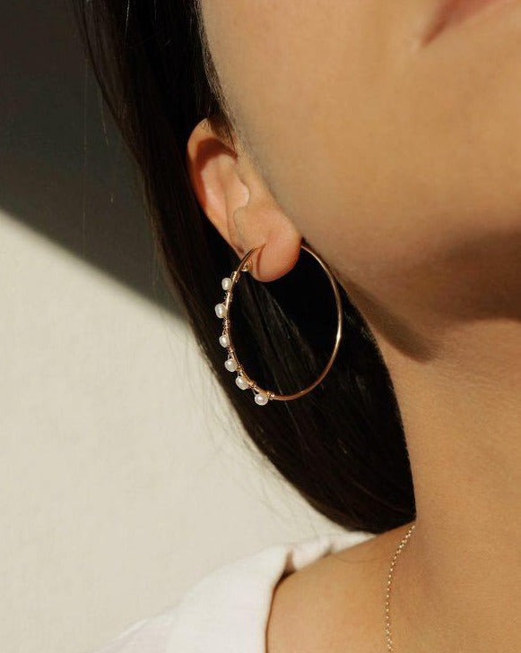 Sea Hoop Earrings KOZAKH