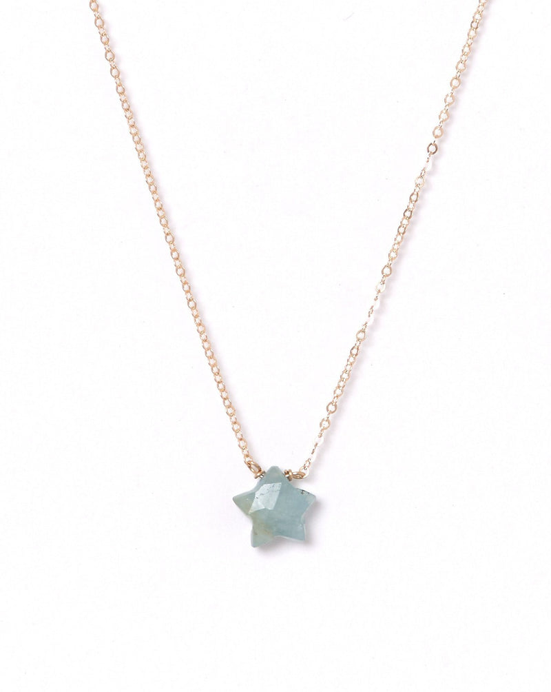 Star Necklace KOZAKH Jewelry Amazonite 14K Gold Filled
