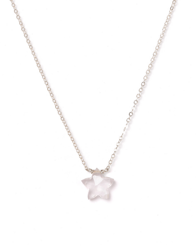 Star Necklace KOZAKH Jewelry Rose Quartz 14K Gold Filled