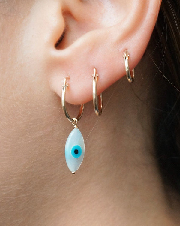 Thin Small Hoop Earrings KOZAKH