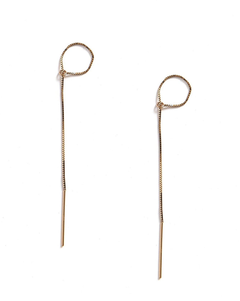 Threader Tie Earrings KOZAKH 14K Gold Filled