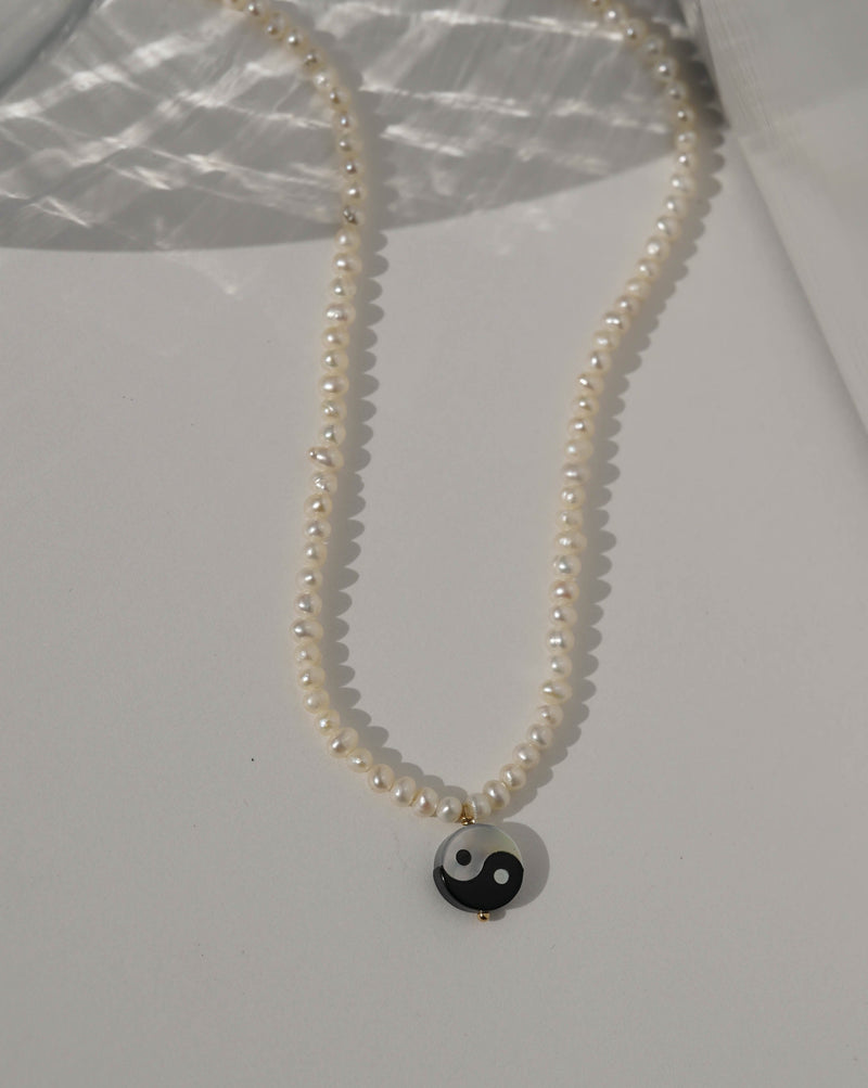 Yin Yang Pearl Necklace