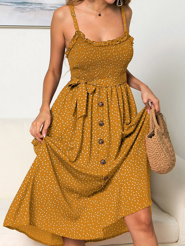Women Solid Long Beach Maxi Boho Dresses